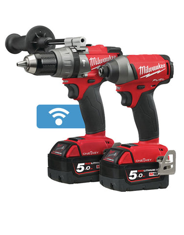 Milwaukee M18ONEPP2A-502X 18v 2x5.0Ah Li-ion ONE KEY Combi/Impact Driver Kit