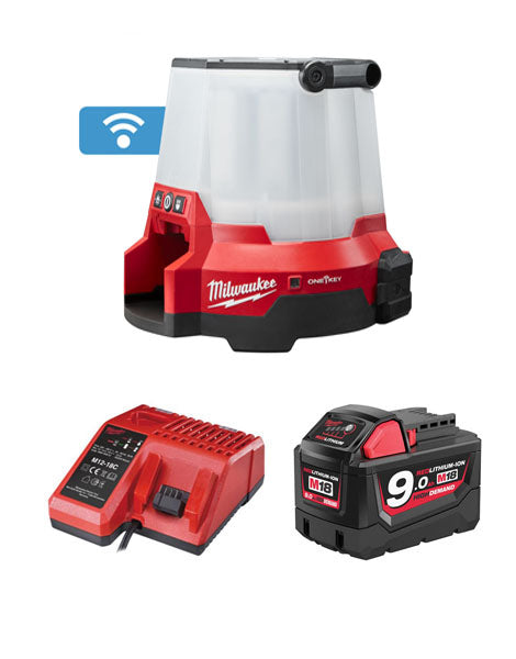 MILWAUKEE M18ONESLSP-901 18V 110V TRUEVIEW COMPACT SITE LIGHT 1 x 9Ah BATTERY + CHARGER
