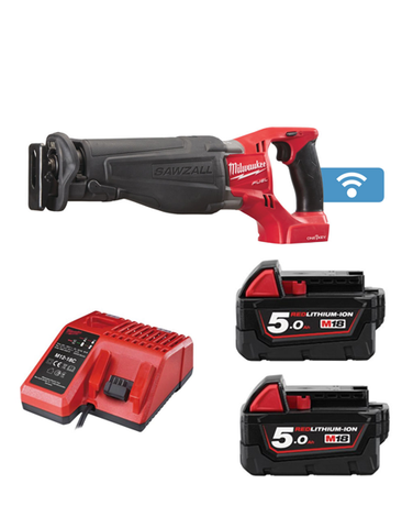 MILWAUKEE M18ONESX-502 18V ONE KEY FUEL SAWZALL 2 x 5AMH BATTERIES + CHARGER