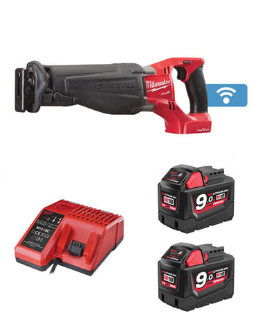 MILWAUKEE M18ONESX-902 18V ONE KEY FUEL SAWZALL 2 x 9AMH BATTERIES + CHARGER