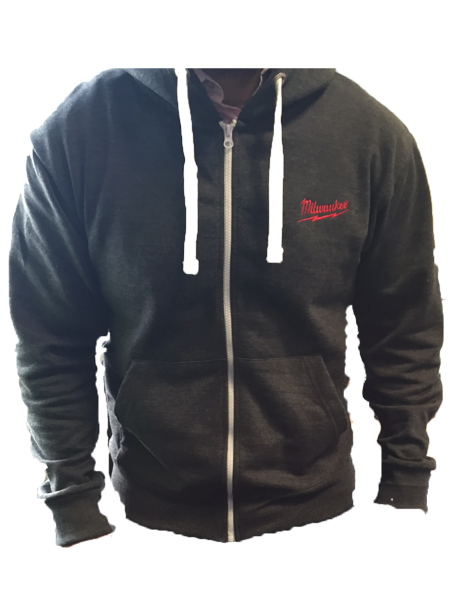MILWAUKEE OFFICIAL GREY HOODIE MEDIUM