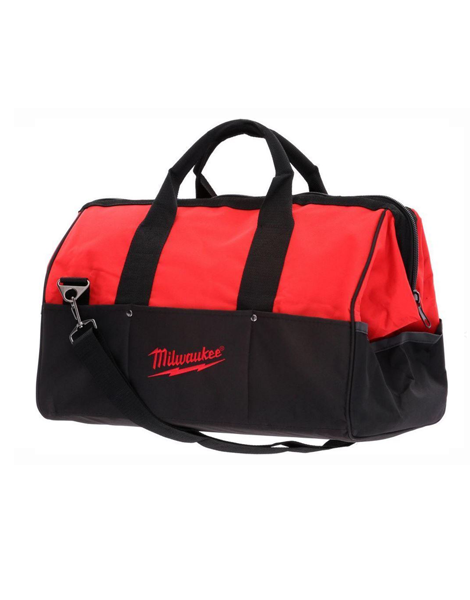 "MILWAUKEE 24"" HEAVY DUTY CANVAS POWER TOOL AND ACCESSORY JOBSITE BAG"