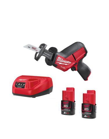 Milwaukee M12CHZ-202 12v Fuel HackZall Reciprocating Saw 2 x 2amh Batteries Charger