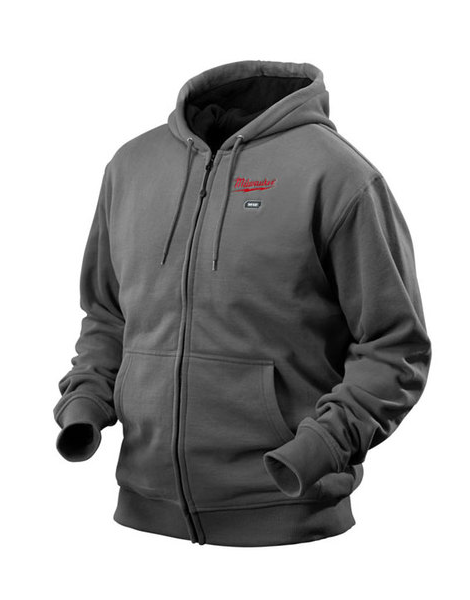 Milwaukee M12HHGREY-0/S 12v Heated Hoody Grey Small Bare Unit