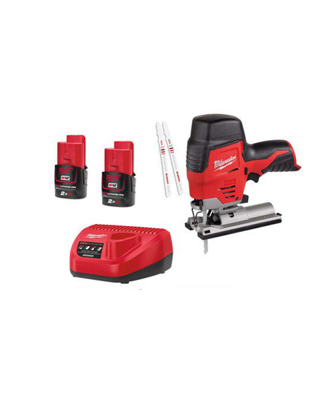 Milwaukee M12JS-202C 12v Li-ion Cordless Compact Jigsaw 2 x 2amh Battery Charger