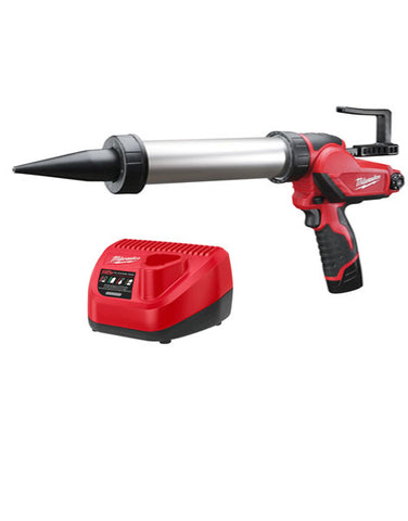MILWAUKEE M12 PCG400A-201B 12V 400ML CAULKING GUN 2 X 2AMH BATTERIES CHARGER