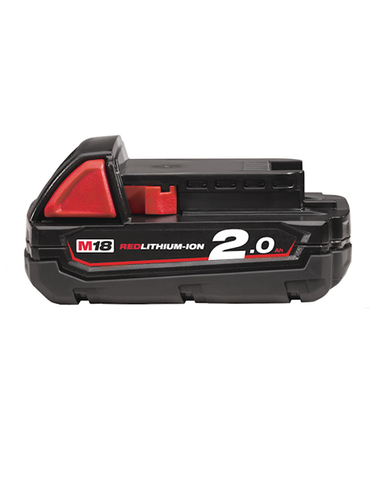 MILWAUKEE M18B2 18V 2.0AH LITHIUM (LI-ION) BATTERY - RED LI-ION