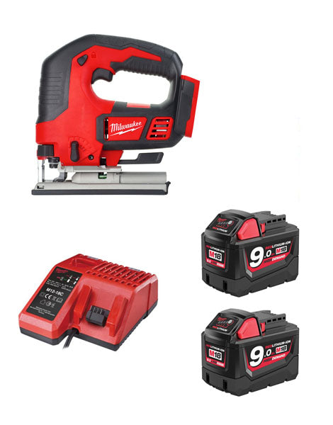 MILWAUKEE M18BJS-902 18V COMPACT JIGSAW 2 X 9AMH BATTERY CHARGER