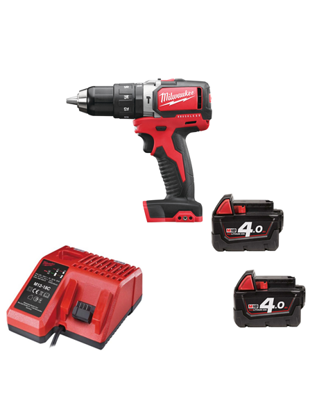 Milwaukee M18BLPD-402 18v Compact Brushless Percussion Drill 2 x 4amh Batteries Charger