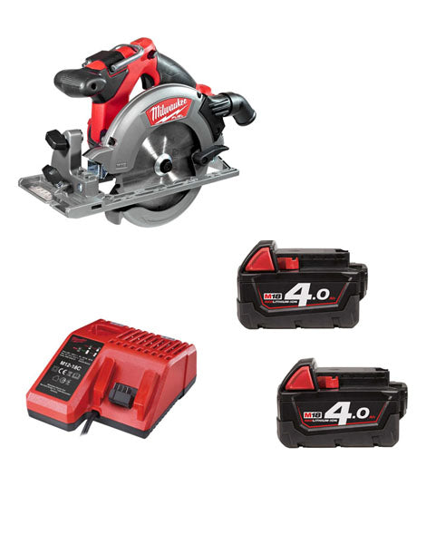 MILWAUKEE M18CCS55-402 M18 FUEL 18V CIRCULAR SAW 2 X 4AMH BATTERIES + CHARGER