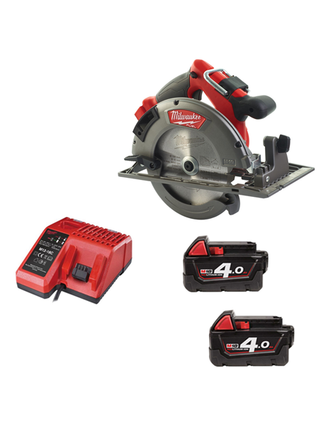 Milwaukee M18CCS66-402C 18v Fuel 66mm Brushless Circular Saw 2 x 4amh Batteries Charger