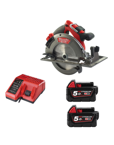 Milwaukee M18CCS66-502C 18v Fuel 66mm Brushless Circular Saw 2 x 5amh Batteries Charger