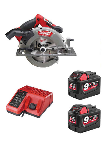 Milwaukee M18CCS66-902C 18v Fuel 66mm Brushless Circular Saw 2 x 9amh Batteries Charger