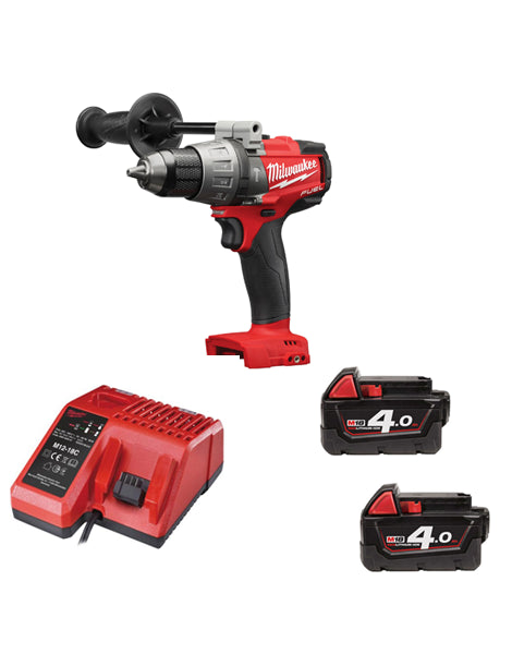 Milwaukee M18FPD-402 18v Brushless Fuel 2 Combi Drill 2 X 4AMH Li-ion Battery Charger