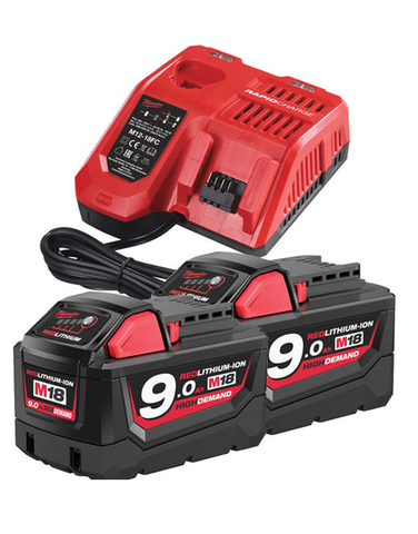 MILWAUKEE M18NRG-902 ENERGY PACK 18V 2 X 9.0AH LI-ION & CHARGER