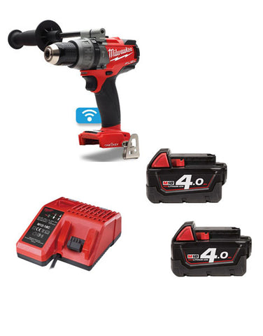 Milwaukee M18ONEPD-402 18v 2x4.0Ah Li-ion One Key Percussion Drill Kit