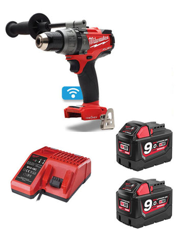 Milwaukee M18ONEPD-902 18v 2 x 9.0Ah Li-ion One Key Percussion Drill Kit