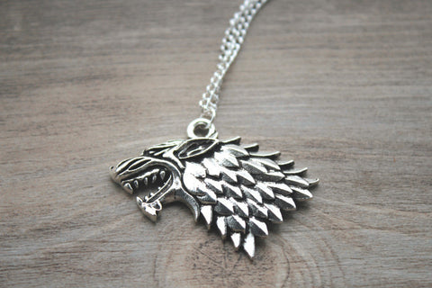 Game of Thrones - Silver Wolf Necklace