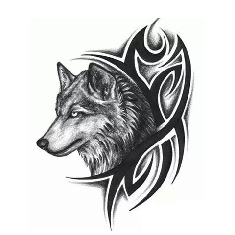 Temporary Wolf Tattoo