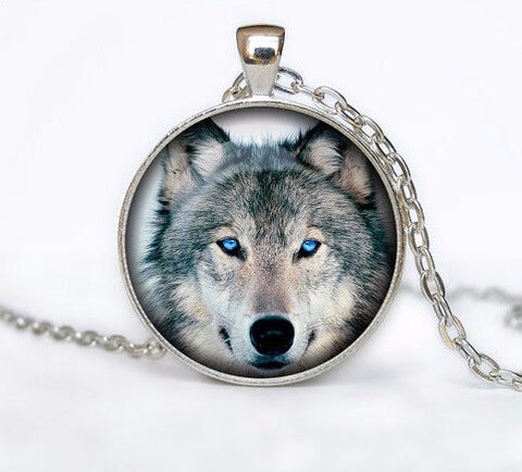 Calm Gray Wolf Pendant