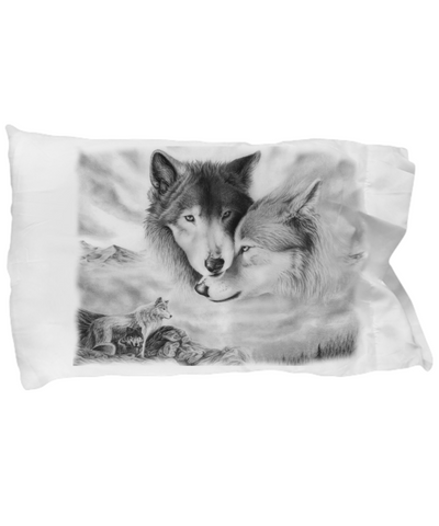 Couple Wolf Pillow