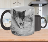 Couple Wolf Heat Sensitive Mug