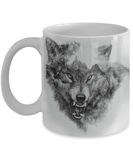 Mountain Wolf Heat Sensitive Mug