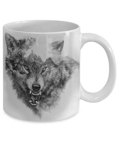 Mountain Wolf Coffee Mug
