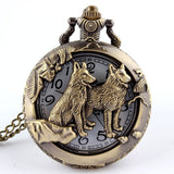 Wolf Quartz Pocket Watch