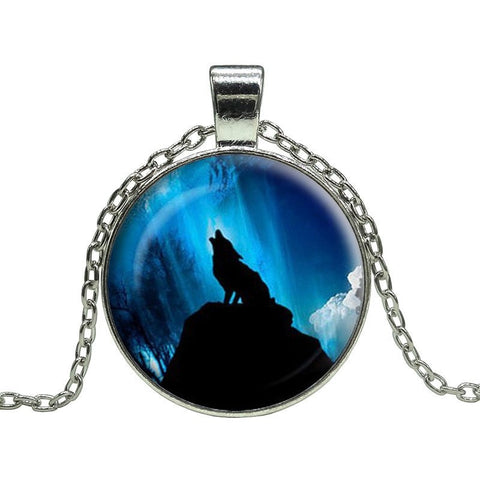 Late Night Howl Wolf Pendant