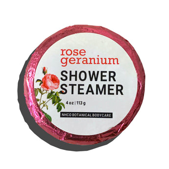 Rose Geranium Shower Steamer - NHCO Botanical Bodycare