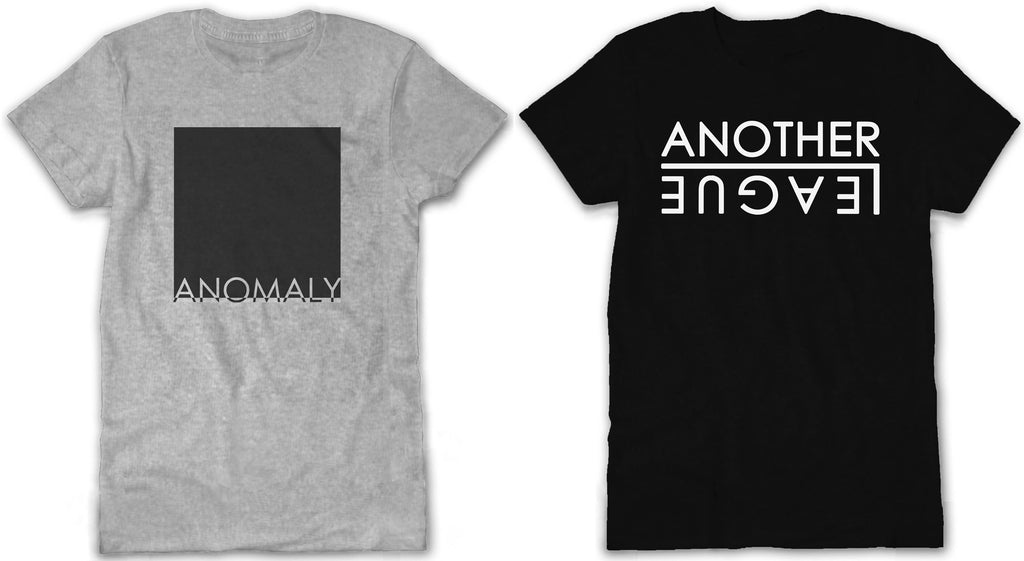 Anomaly and Another League minimalistic t-shirt design by Dabatag. Anomaly- Grey series, Another League- Black series. Simplistic minimal fashion graphics. Available on the Dabatag store - www.dabatag.co.uk