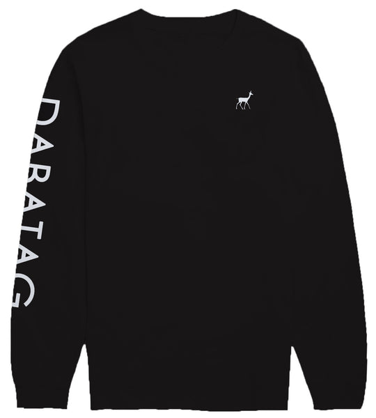 Sleeve print black - Long sleeved t-shirt