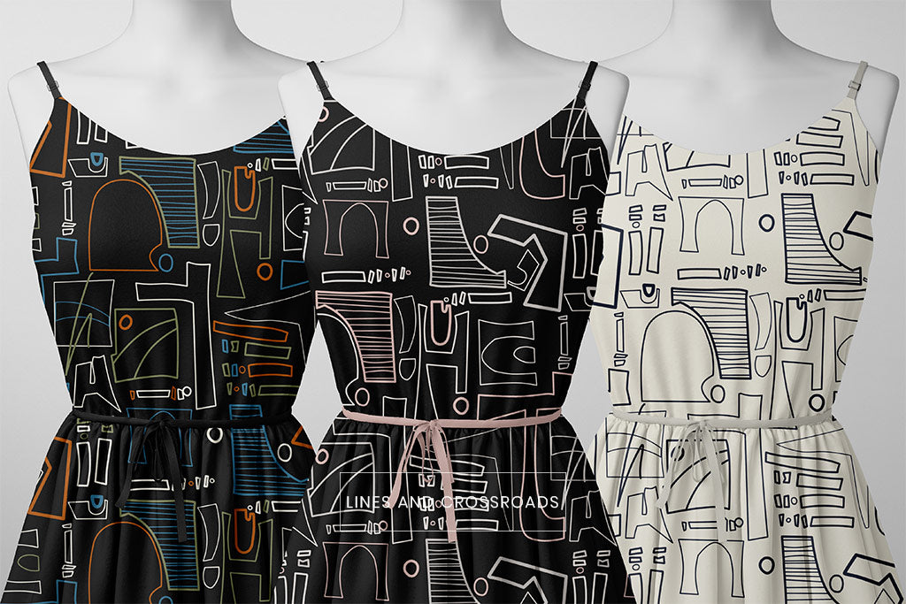 Lines and Crossroads-Genesis 1 Collection-Zuri and Imani Fabric