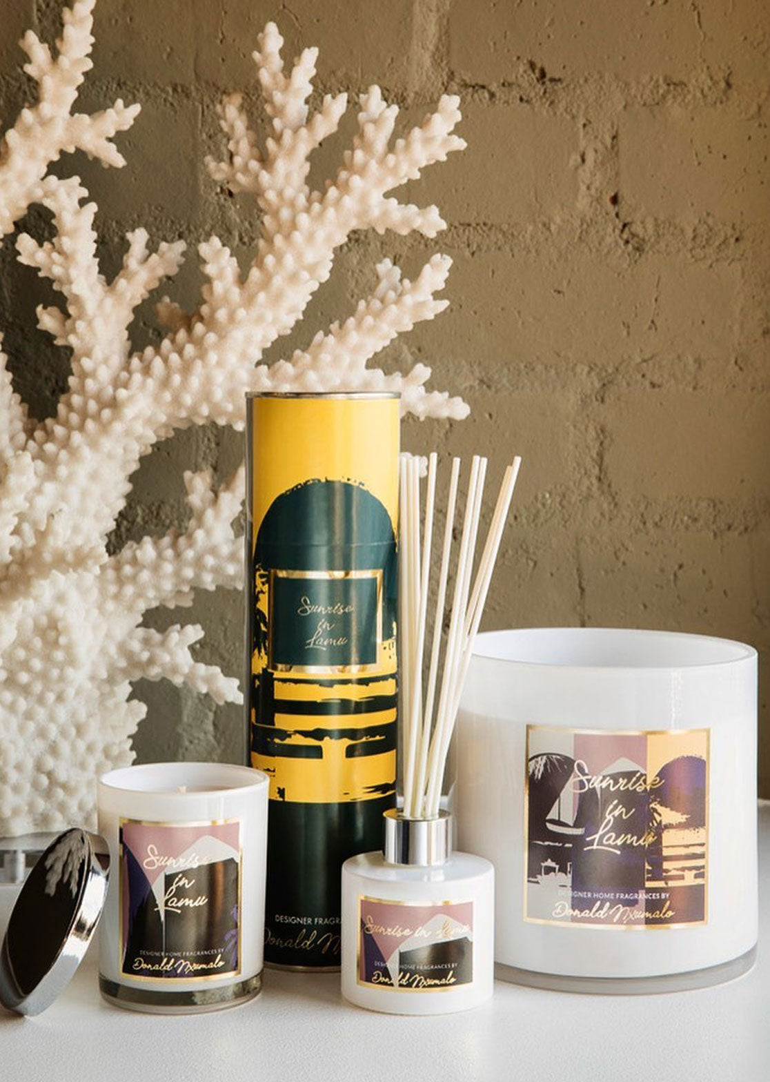 SUNRISE IN LAMU-Home Fragrance Collection-Donald Nxumalo.