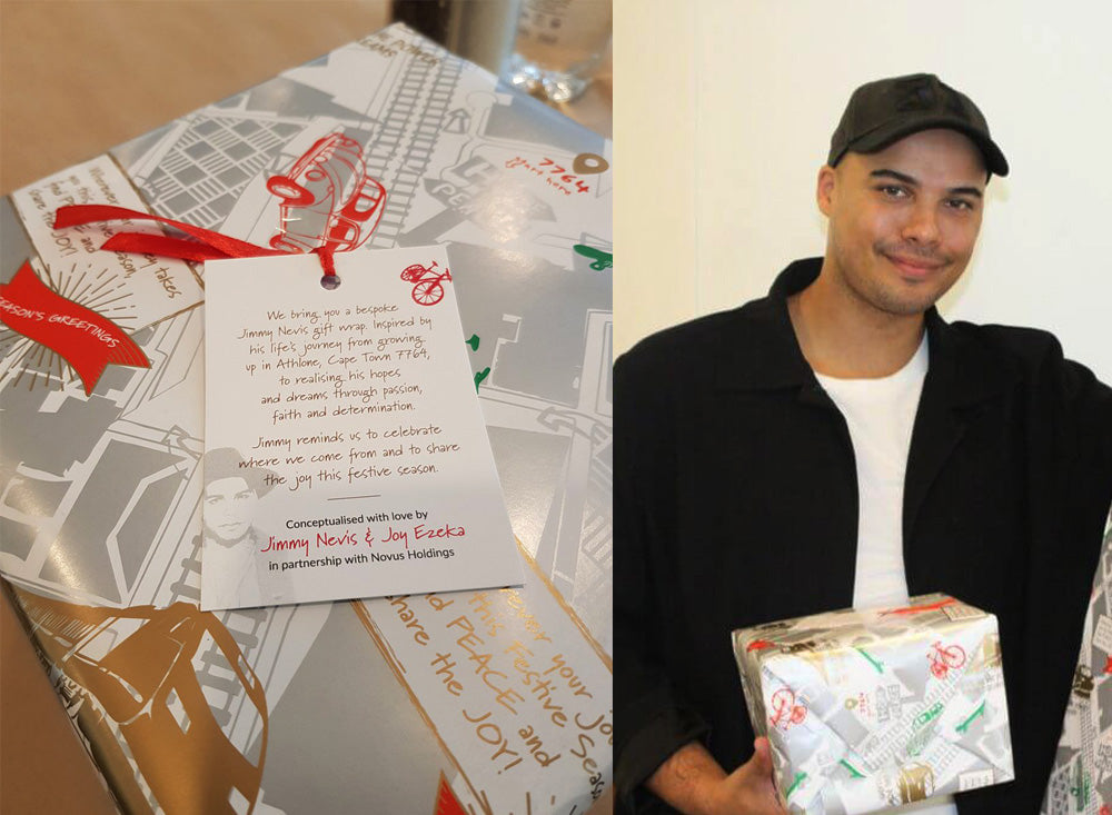 Unwrapping-Happiness-Christmas-Wrapping-Paper-Design-Jimmy-Nevis-x-Joy-Ezeka x Novus-Holdings