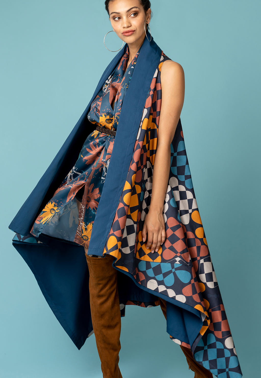 Scarf  | Namaqua Flowers | Blue Sunset