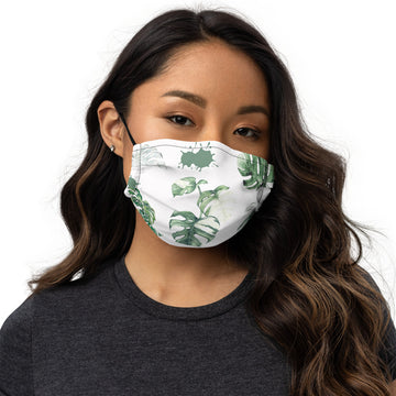 Monstera Face mask (White)