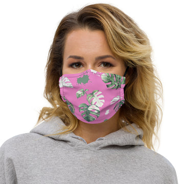 Monstera Face mask (pink)