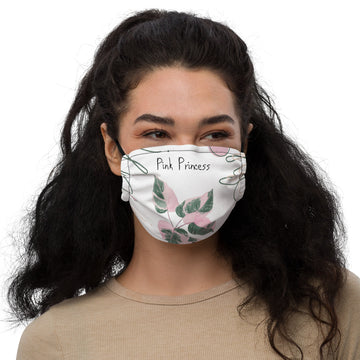 Philodendron Pink Princess Face mask (white)