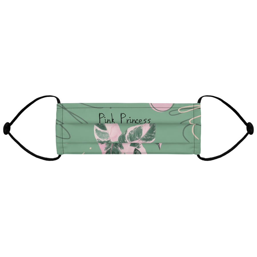 Philodendron Pink Princess Face mask (Green)