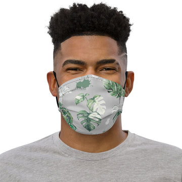 Monstera Face mask (Grey)