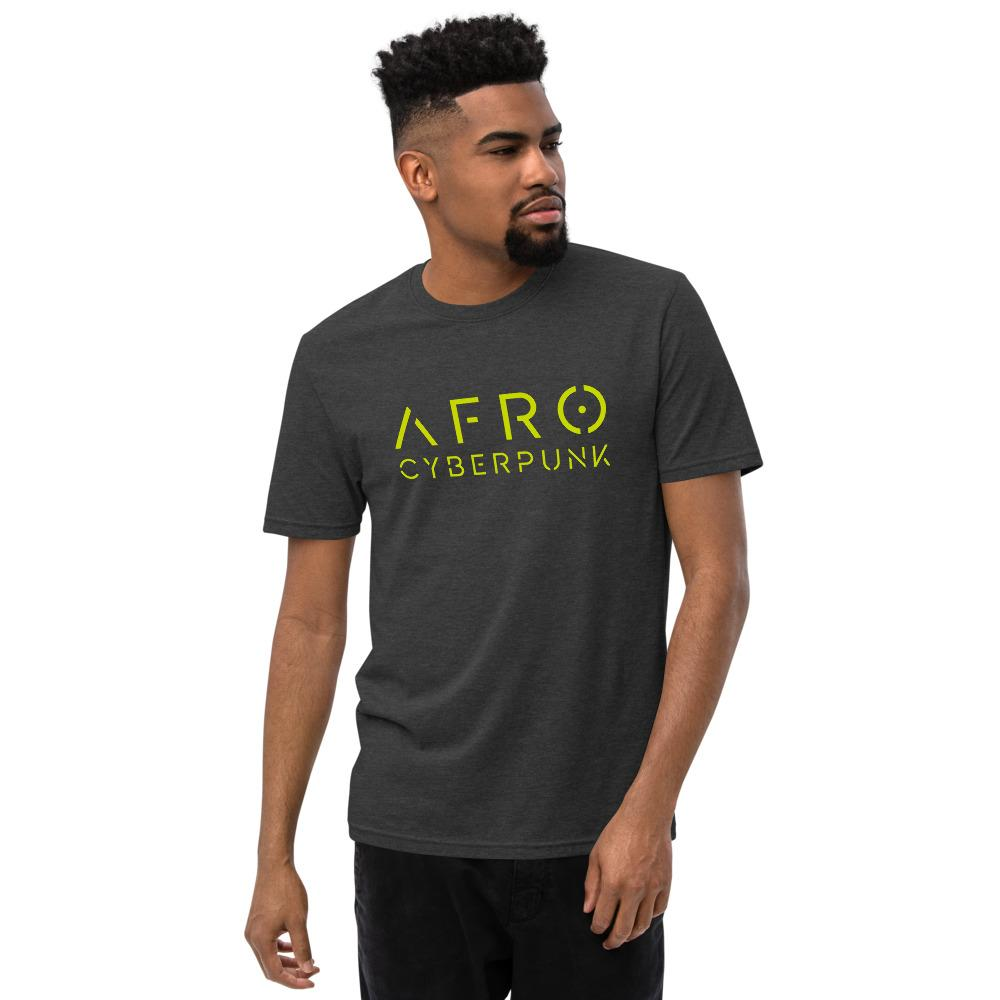 AFRO CYBERPUNK 2.0 recycled t-shirt Embattled Clothing Charcoal Heather S