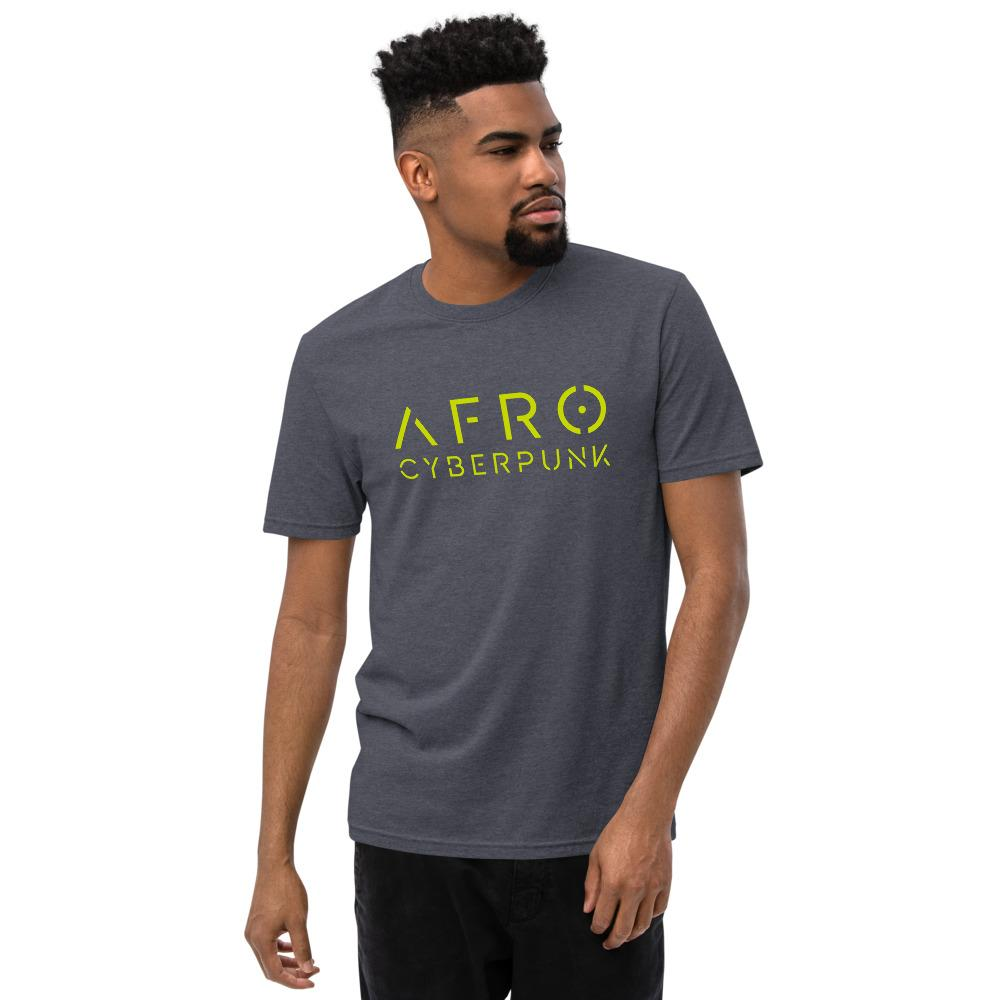 AFRO CYBERPUNK 2.0 recycled t-shirt Embattled Clothing Heathered Navy S