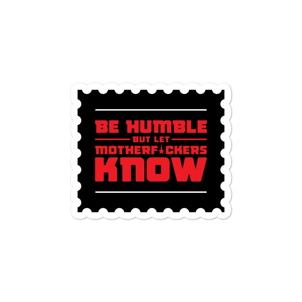 BE HUMBLE (CYBER YELLOW) Bubble-free stickers Embattled Clothing 3x3