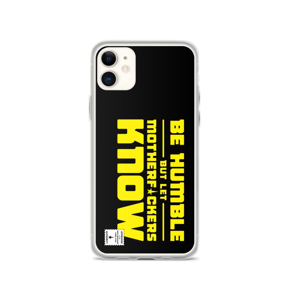 BE HUMBLE (CYBER YELLOW) iPhone Case Embattled Clothing iPhone 11