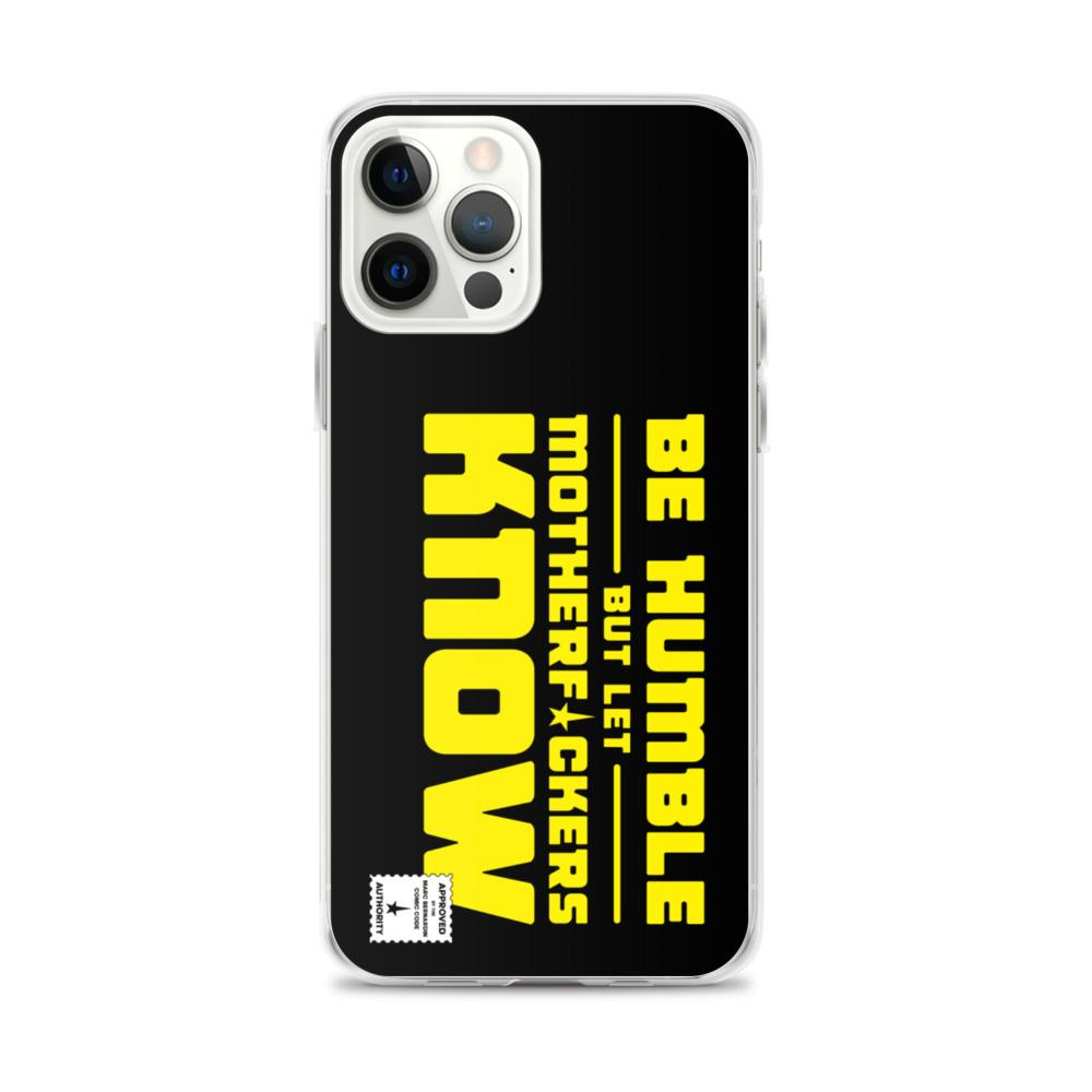 BE HUMBLE (CYBER YELLOW) iPhone Case Embattled Clothing iPhone 12 Pro Max