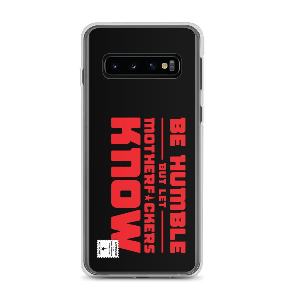 BE HUMBLE (LASER RED) Samsung Case Embattled Clothing Samsung Galaxy S10