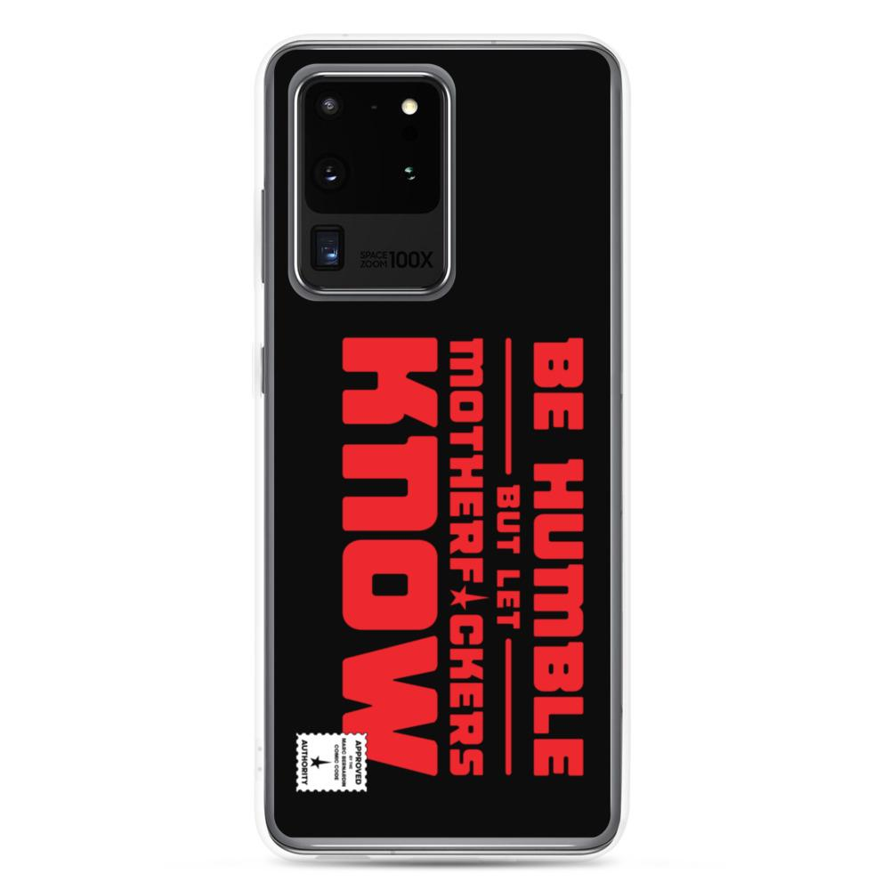 BE HUMBLE (LASER RED) Samsung Case Embattled Clothing Samsung Galaxy S20 Ultra