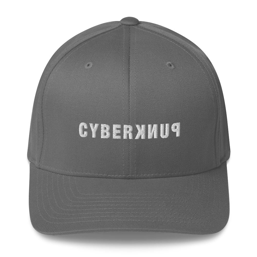 CYBERPUNK SQUAD Structured Twill Cap Embattled Clothing Grey S/M